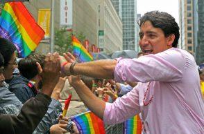 Justin Trudeau. Pride parade, Toronto,