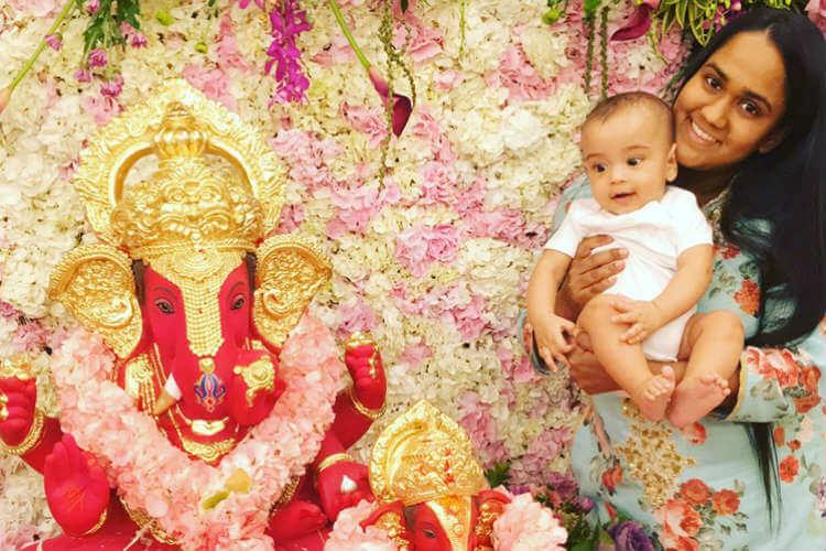 Arpita Khan Sharma, Ahil Sharma, Ganesh Chaturthi, Arpita Khan Sharma Twitter image