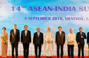 Heads of member states of ASEAN pose for a photograph during the ASEAN-India summit. (Photo: Reuters)