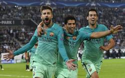 Barca fight back to oust Gladbach2-1