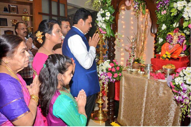 Devendra Fadnavis, Ganesh Chaturthi, Devendra Fadnavis Twitter image