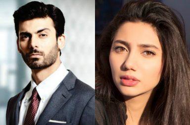 Fawad Khan and Mahira Khan