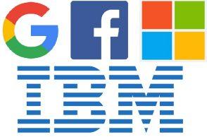 Google, Facebook, Microsoft, IBM