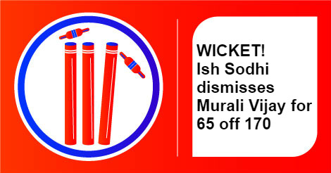 India vs New Zealand, Murali Vijay wicket, InUth.com