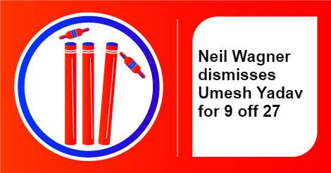 India vs New Zealand, U Yadav wicket - InUth.com