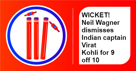 India vs New Zealand, Virat Kohli wicket, InUth.com
