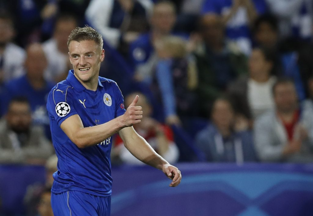 Jamie Vardy sips port out of a lucozade bottle before every Leicester Citymatch