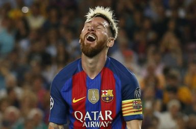 Football Soccer - FC Barcelona v Celtic - UEFA Champions League Group Stage - Group C - The Nou Camp, Barcelona, Spain - 13/9/16 Barcelona's Lionel Messi reacts Reuters / Albert Gea Livepic EDITORIAL USE ONLY.