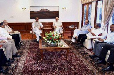 Narendra Modi, Rajnath Singh, Arun Jaitley, Manohar Parrikar, New Delhi
