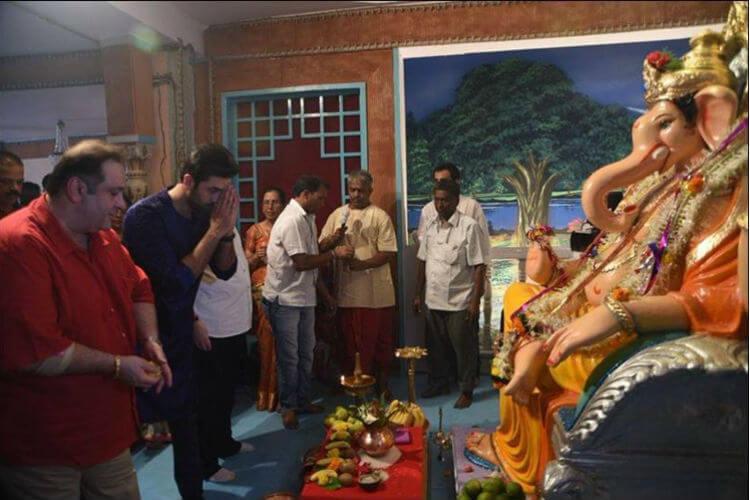 Ranbir Kapoor, Rajiv Kapoor, Ganesh Chaturthi, Twitter image