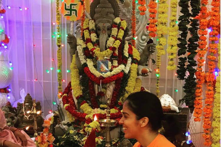 Saina Nehwal, Ganesh Chaturthi, Saina Nehwal Twitter image