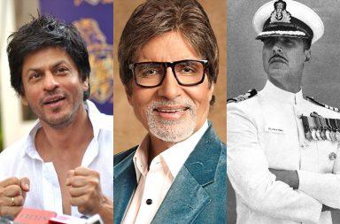 Shahrukh Khan, Akshay Kumar, Amitabh Bachchan