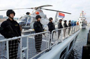 Soldiers at South China Sea