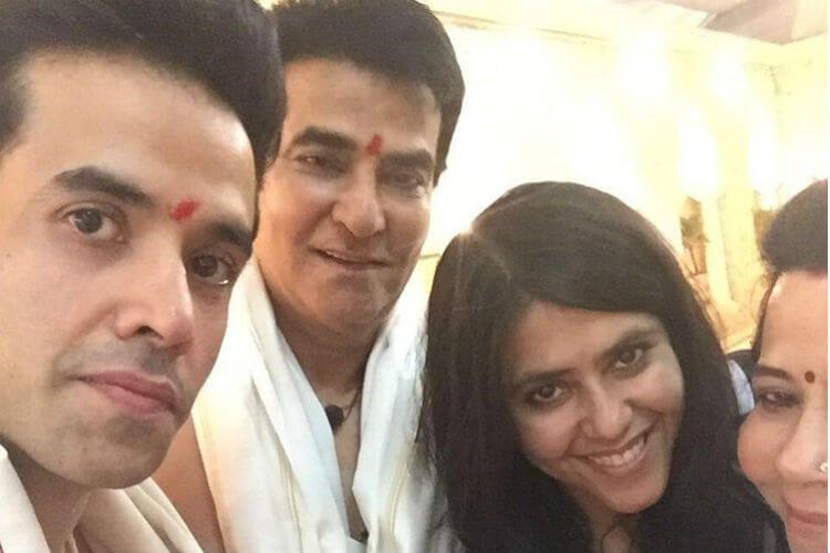Shobha Kapoor, Tusshar Kapoor, Ekta Kapoor, Jeetendra, Ganesh Chaturthi, Tusshar Kapoor Twitter image
