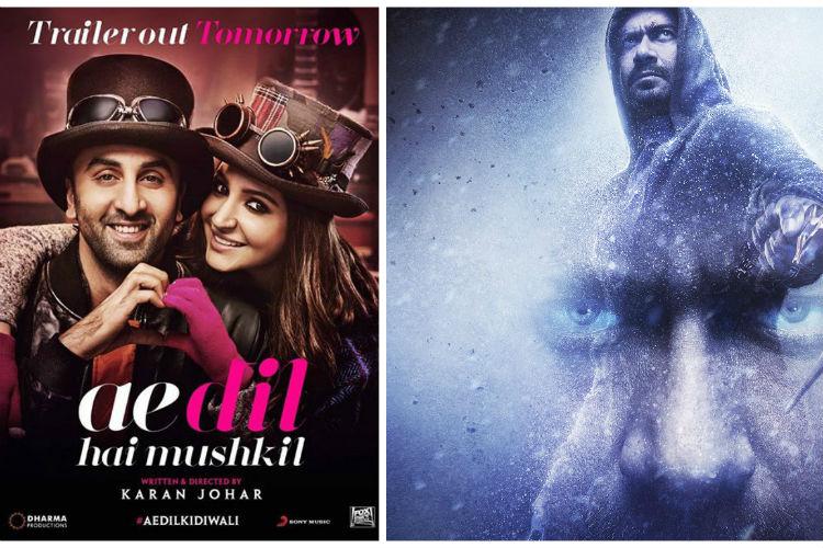 Ranbir-Aishwarya's 'Ae Dil Hai Mushkil' is ahead of Ajay Devgn's 'Shivaay'