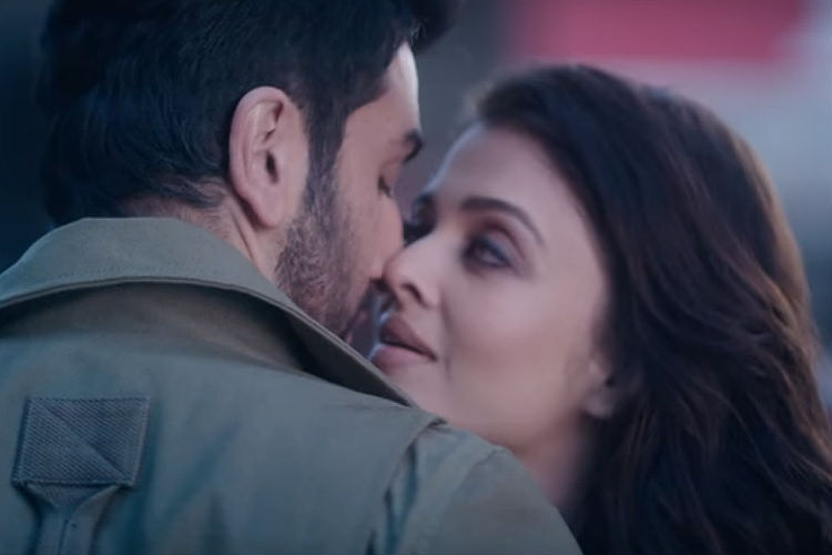 Aishwarya Rai, Ranbir Kapoor in Ae Dil Hai Mushkil YouTube screen grab for InUth.com