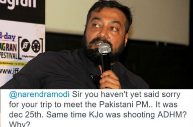 Anurag Kashyap IANS photo for InUth.com with his tweet screen shot