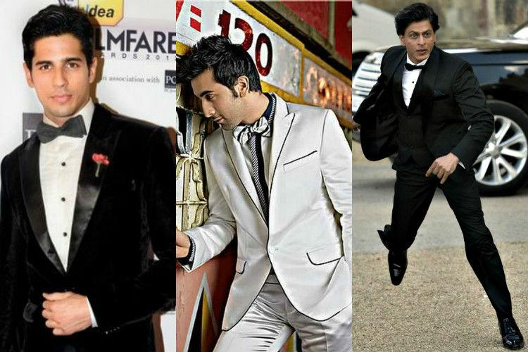 Shah Rukh Khan, Ranbir Kapoor, Sidharth Malhotra, bow tie