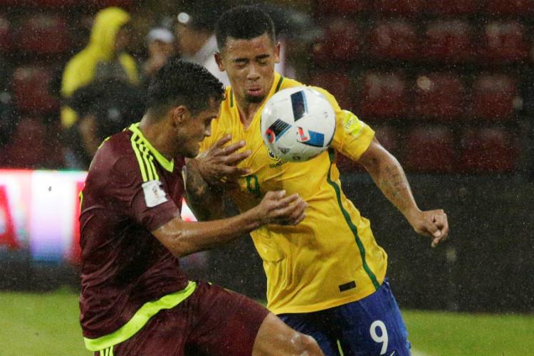 Neymar-less Brazil defeats Venezuela 2-0 inMerida