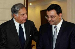 Ratan Tata (left) with Cyrus Mistry. (Photo: PTI)