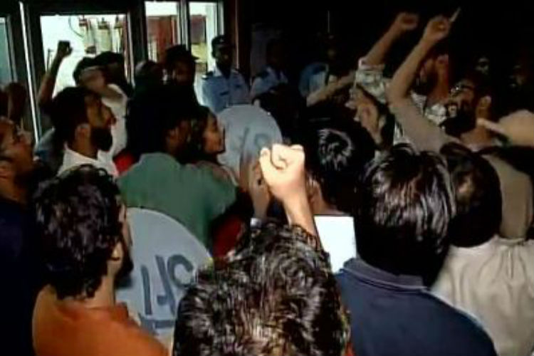 JNU VC talks tough after students hold siege at campus