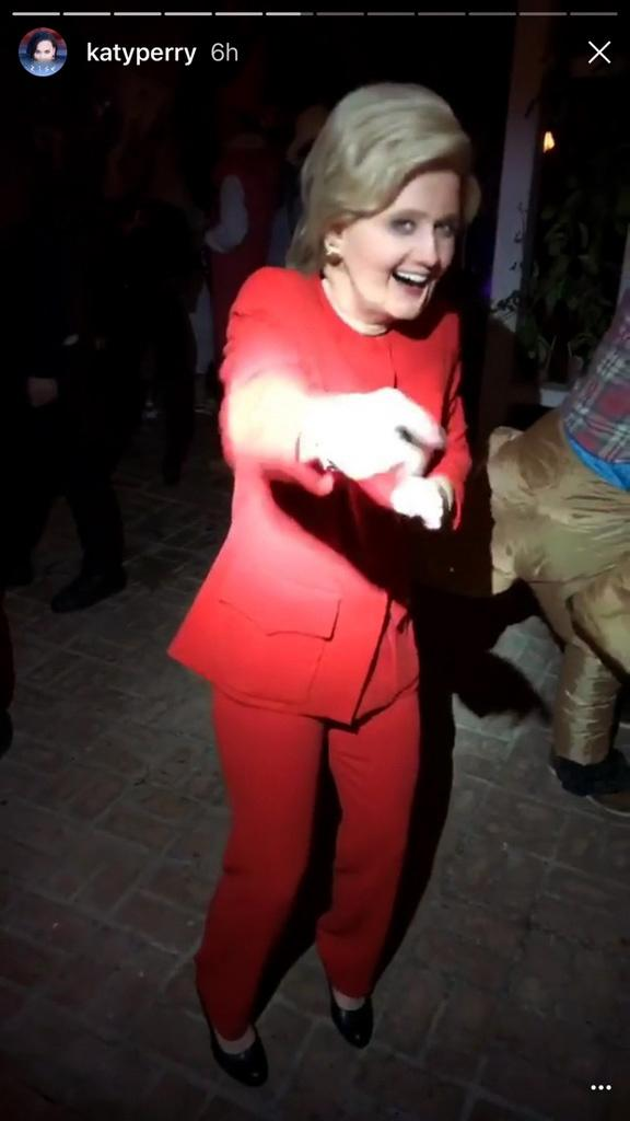 Katy Perry Hillary Clinton Halloween | Snapchat Image For InUth.com