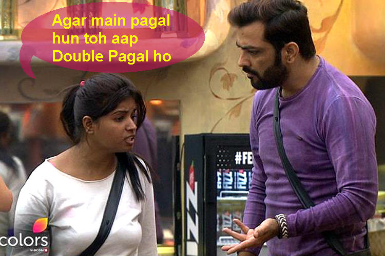 Lokesh Kumari Sharma and Manu Punjabi in Bigg Boss 10 Colors TV photo for InUth.com