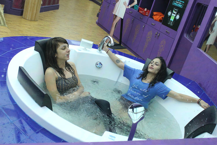 Nitibha Kaul Akansha Singh in Bigg Boss 10 house Colors TV photo for InUth.com