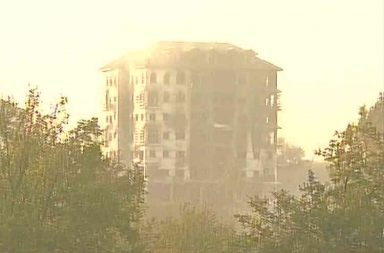 Two terrorists are holed up in the EDI building. (Photo: Twitter/ANI)