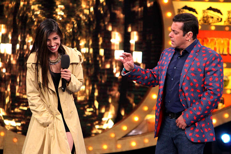 Priyanka Jagga and Salman Khan in Bigg Boss 10 Colors TV photo for InUth.com