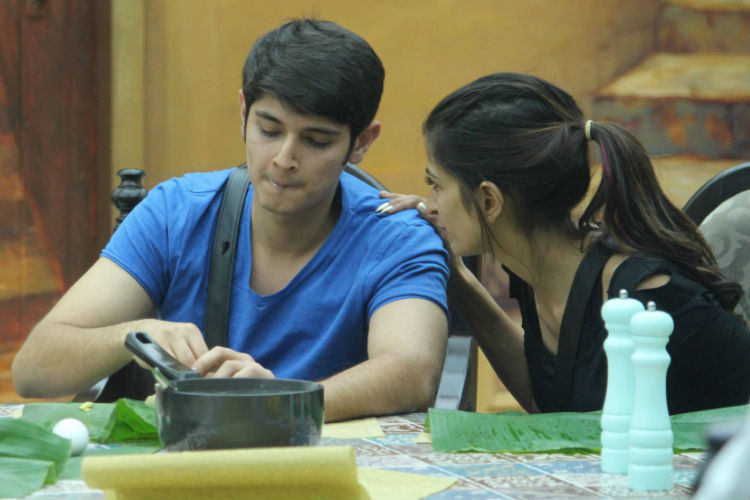 Priyanka Jagga and Rohan Mehra in Bigg Boss 10 Colors TV photo for InUth.com