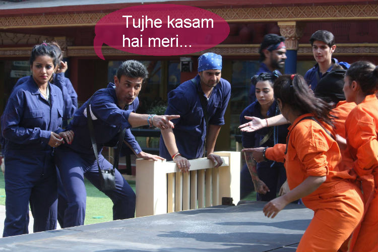 The laundry task in Bigg Boss 10 Colors TV photo for InUth.com