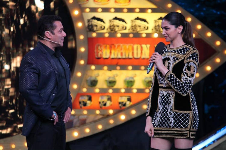 Deepika Padukone, Salman Khan on Bigg Boss Twitter photo for InUth.com