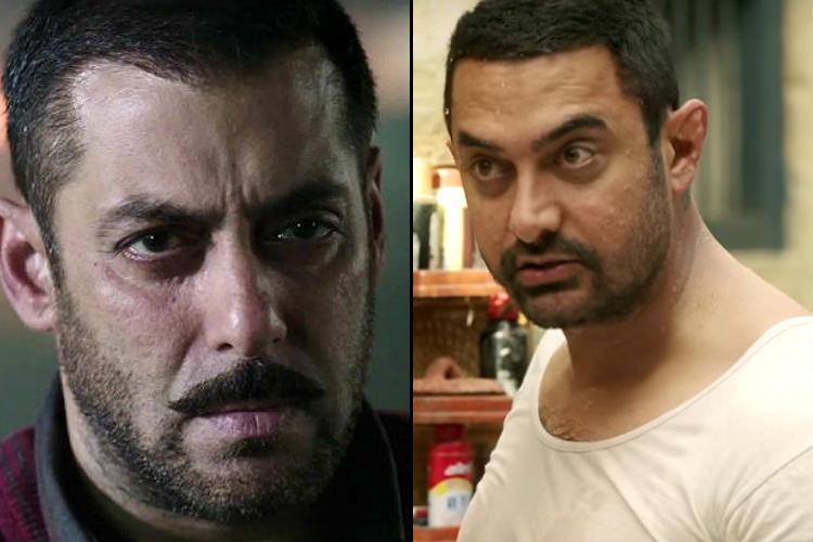 Salman Khan in Sultan, Aamir Khan in Dangal YouTube screen grab for InUth.com