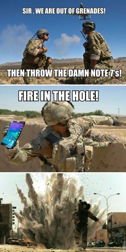 Samsung Galaxy Note 7 Meme