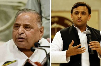 Mulayam Singh Yadav (left) and his son Akhilesh.