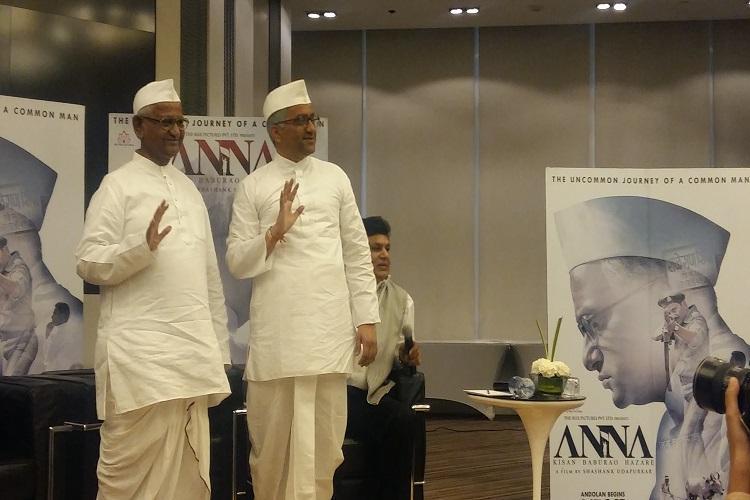 Anna Hazare with Shashank Udapurkar Photo: Somi Das/inuth