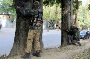 File photo of handwara encounter (Photo: Express/ Shuaib Masoodi)