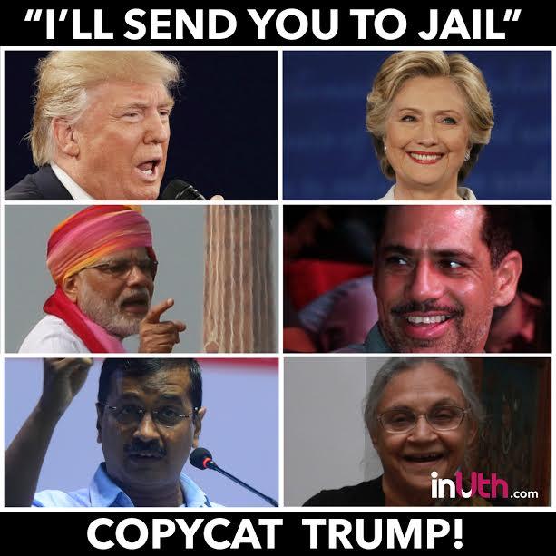 Arvind Kejriwal, Donald Trump, Hilary Clinton