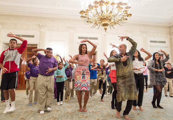 Michelle Obama, Bollywood dance, White House