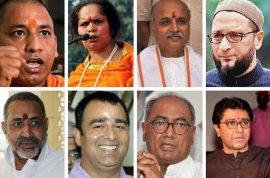 A collage of political leaders who have made fiery comments