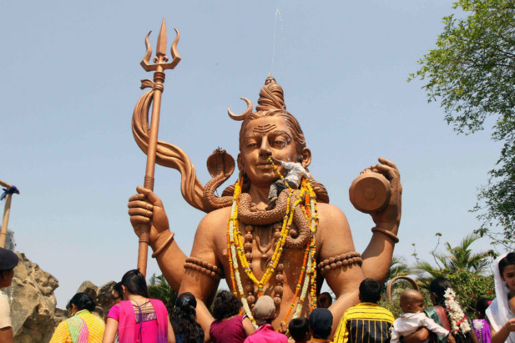 Shiva idol in Maharashtra (Photo: Express/ Deepak Joshi)