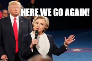 Hillary Clinton, Donald Trump at the second presidential debate