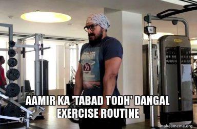 Aamir Khan, Dangal workout