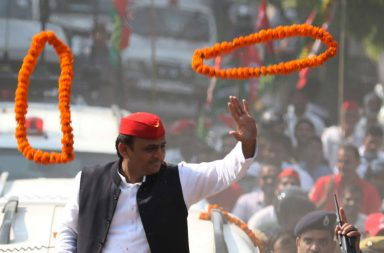 File photo of Akhilesh Yadav at a rally