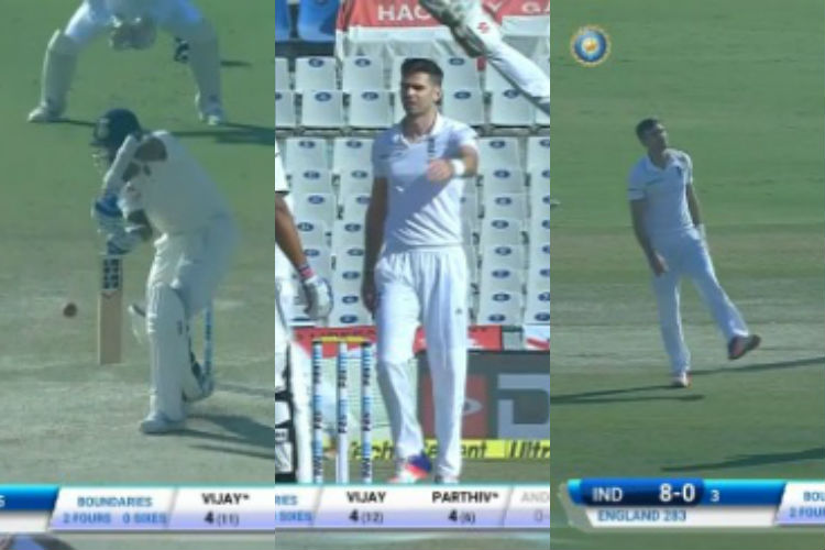 Watch: How England bowler Anderson played cheap trick to get Vijay's wickets