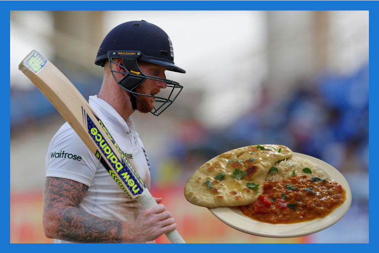 Ben Stokes can brave Indian spinners but not 'Naan, Daal, and Rice'