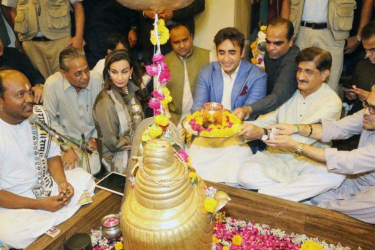 Bilawal Bhutto Zardari attends Diwali Puja in Karachi's Shiv temple[Photo]