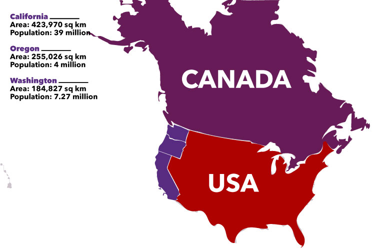 Three US states may secede and join Canada! #PostTrump