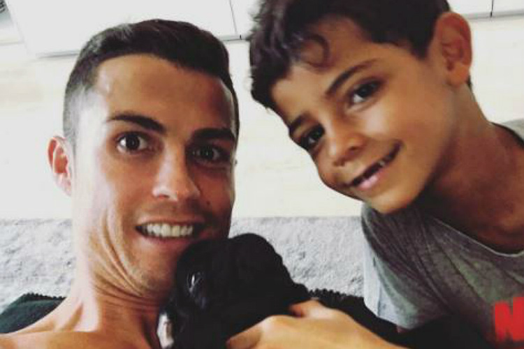Like Father Like Son; Cristiano Ronaldo goes gyming with son ahead of Madrid derby